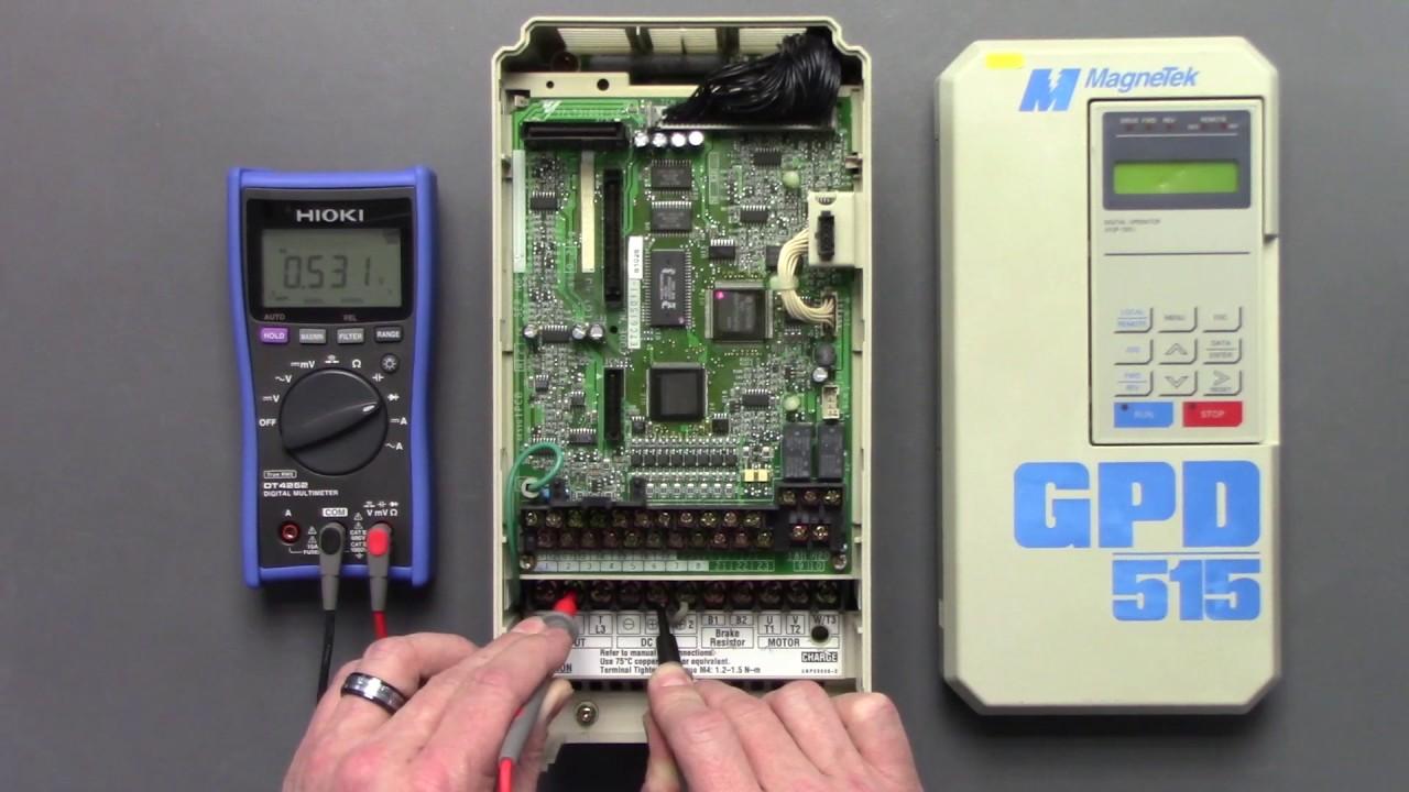 Magnetek General Purpose Inverter Drive GPD515 Series Static Check on