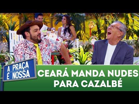 Matheus Ceará manda foto indecente para Cazalbé | A Praça É Nossa (14/12/17)