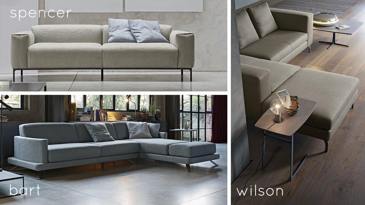 Doimo Salotti  divani in tessuto Bart Spencer e Wilson  YouTube