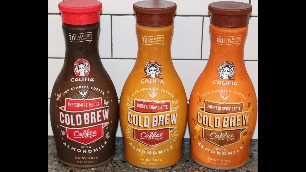 Califia Cold Brew Coffee: Peppermint Mocha, Ginger Snap Latte & Pumpkin  Spice Latte Review