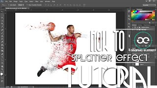 Adobe Photoshop Tutorial - How To: Make a Splatter/Dispersion Effect In CS6