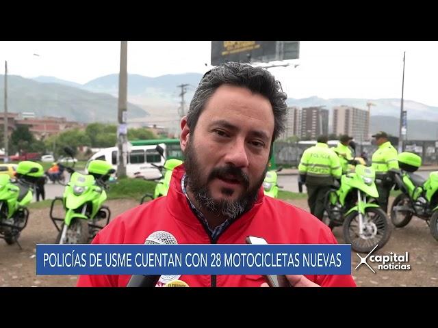 Alcaldía de Bogotá entregó 28 motocicletas a la Policía de Usme