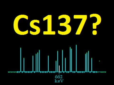 Cs137 in my rain? Results!