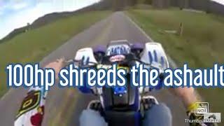 100hp banshee shredding the pavement