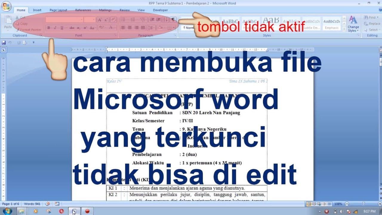 langkah langkah membuka microsoft word