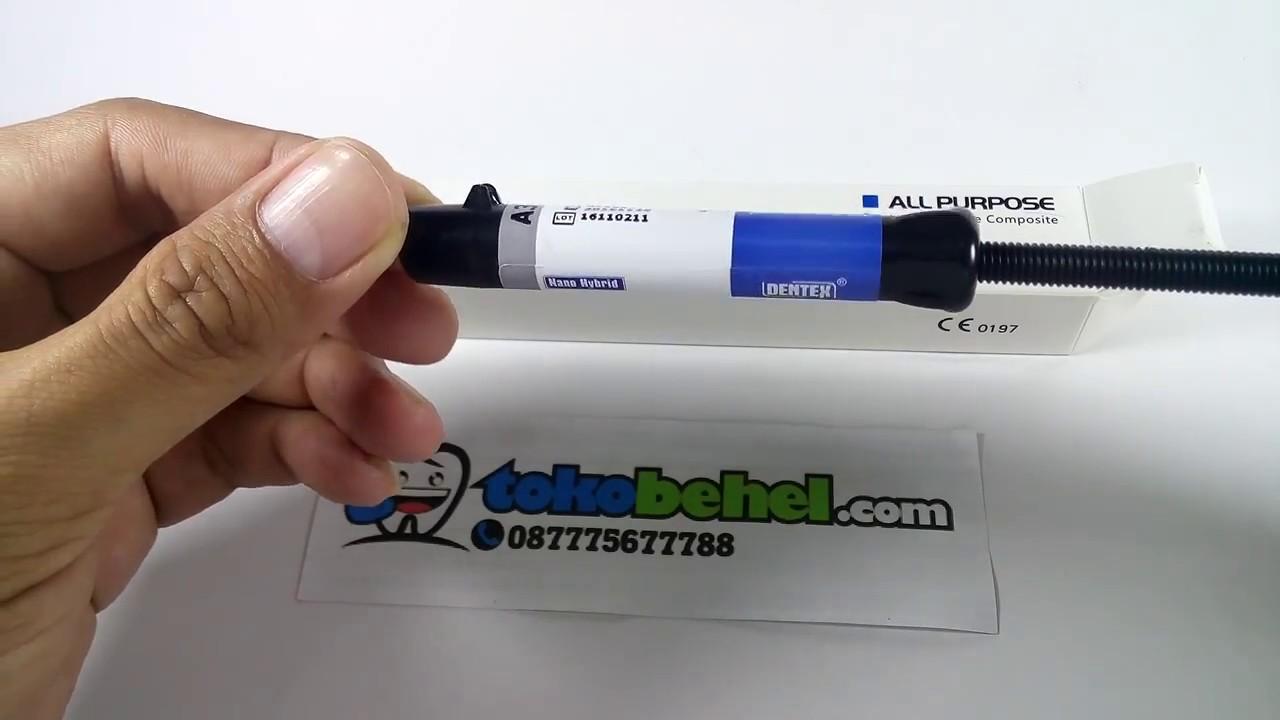 Dentex Light Cure Composite Bahan Tambal Gigi Youtube