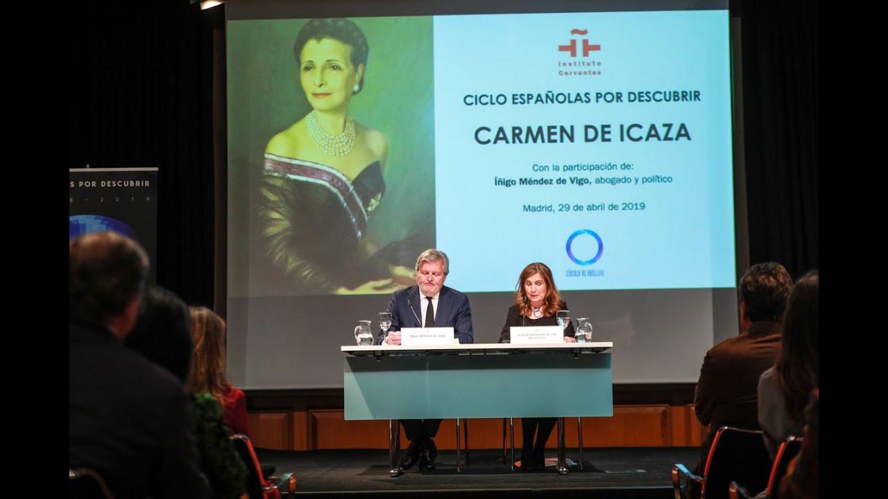 Carmen De Icaza Por íñigo Méndez De Vigo Youtube