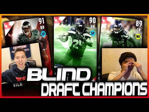 QUICKSELLING OUR TEAM! BLIND DRAFT & PLAY VS LOSTNUNBOUND! MADDEN 16 DRAFT CHAMPIONS