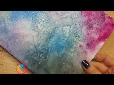 Рисование солью и акварельными красками видео уроки