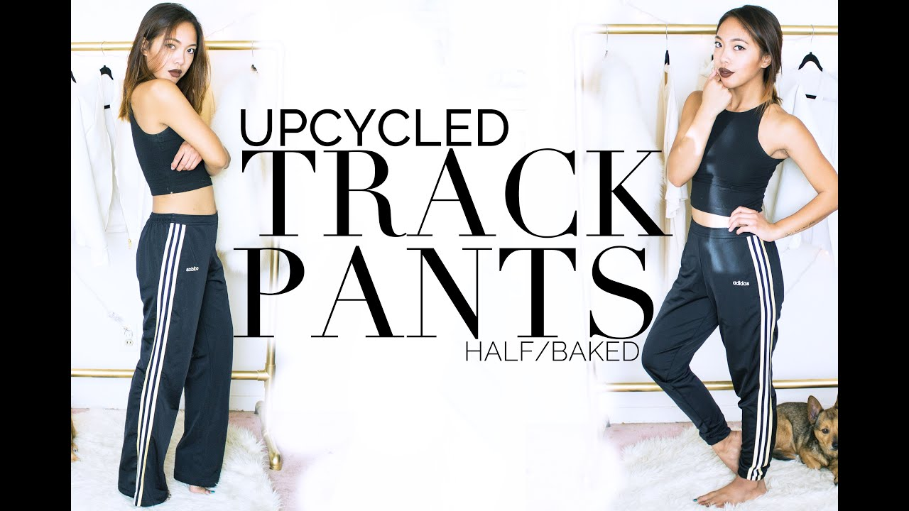 Upcycled Fashion Ep 1 Diy Tapered Track Pants Diy