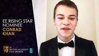 Conrad Khan's Nominee Speech for the EE Rising Star Award   EE BAFTA Film Awards 2021