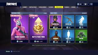 RABBIT RAIDER, BUNNY BRAWLER, CARROT STICK, BATTLE PASS TIERS are back (Fortnite Battle Royale)
