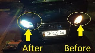 Easy Install: B8 Audi A4 & A5 HID 8k Light Upgrades on (2010, 2011, 2012)