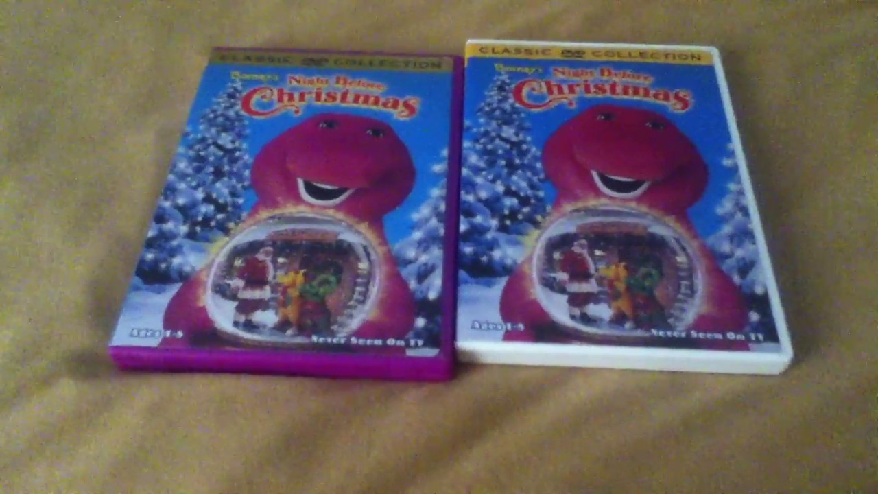 2 Different Copies Of Barney\'s Night Before Christmas - YouTube