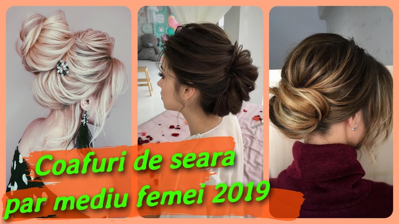 Top 20 Coafuri De Seara Par Mediu Femei 2019