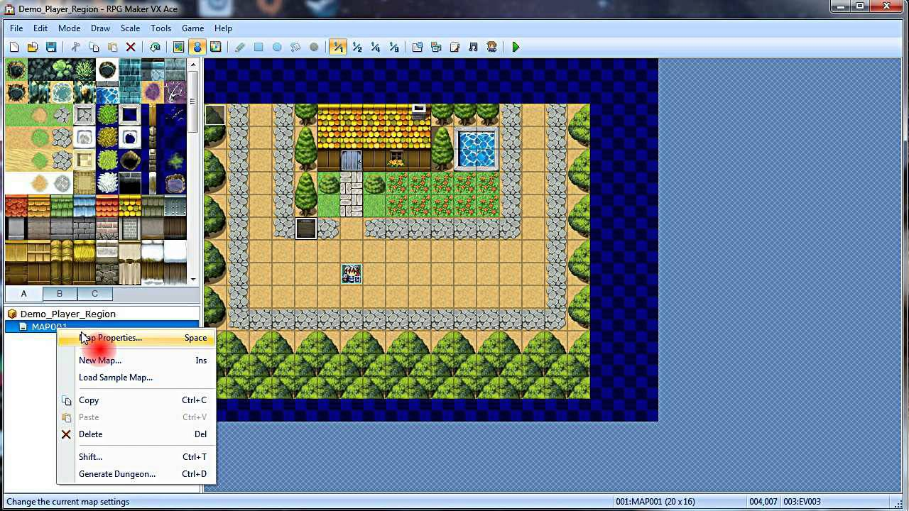 RPG Maker VxAce Tutorial: Shifting a Map