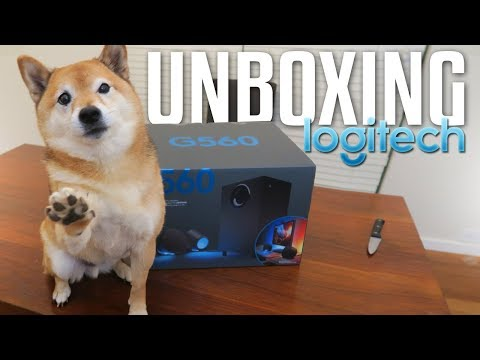 Unboxing Logitech G560 Lightsync Speakers & G513 Keyboard