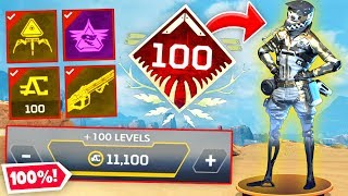 APEX LEGENDS SEASON 1 100% UNLOCKED BATTLE PASS! (Funny & Epic Moments#19)