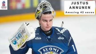 Justus Annunen Amazing game vs Sweden
