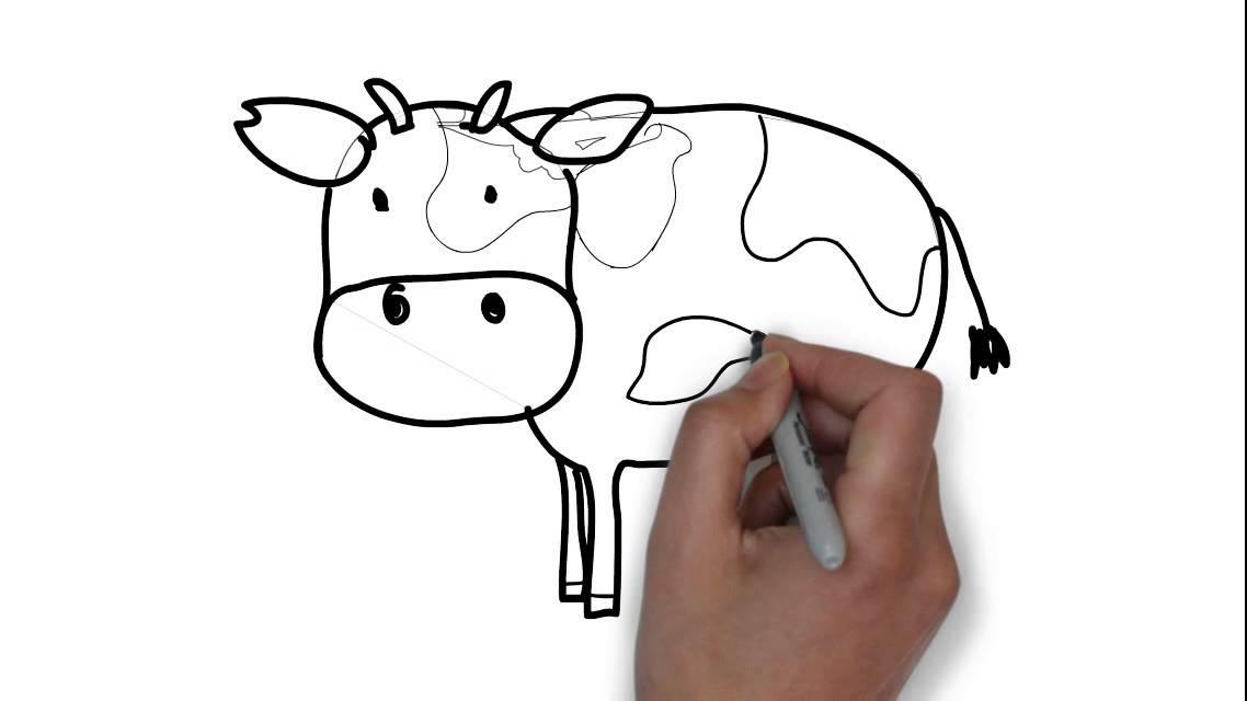 Comment Dessiner Une Vache Youtube