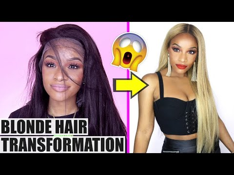 How To Color Your Hair Extensions Blonde! (Very Detailed)