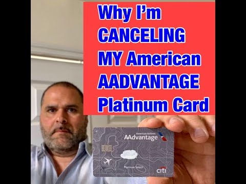 Why I'm Canceling The American Airlines AAdvantage Card