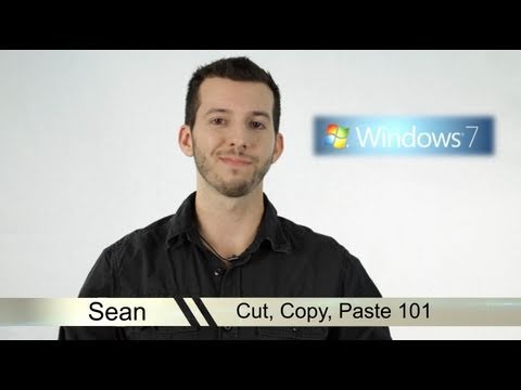 learn windows 7 copy and paste youtube