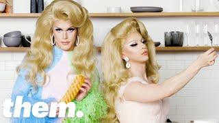 Antoni Porowski aka 'Eva Cado' & Miz Cracker Make the Perfect Pride Sandwich | them.