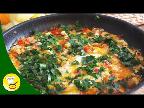 MENEMEN eine traditionell türkische Eierpfanne mit Gemüse - Eiergericht CANANS REZEPTE