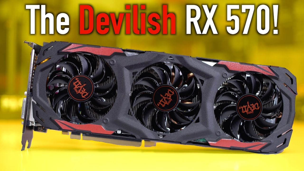Powercolor Red Devil RX 570 Review   Benchmarks (Overclocked) - YouTube ce0c95715de