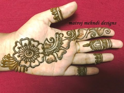 Mehndi Hands Designs : Easy simple mehndi henna designs for handsmatroj