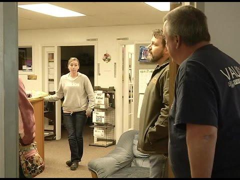 Raw Video: tense moments at Vaughn school