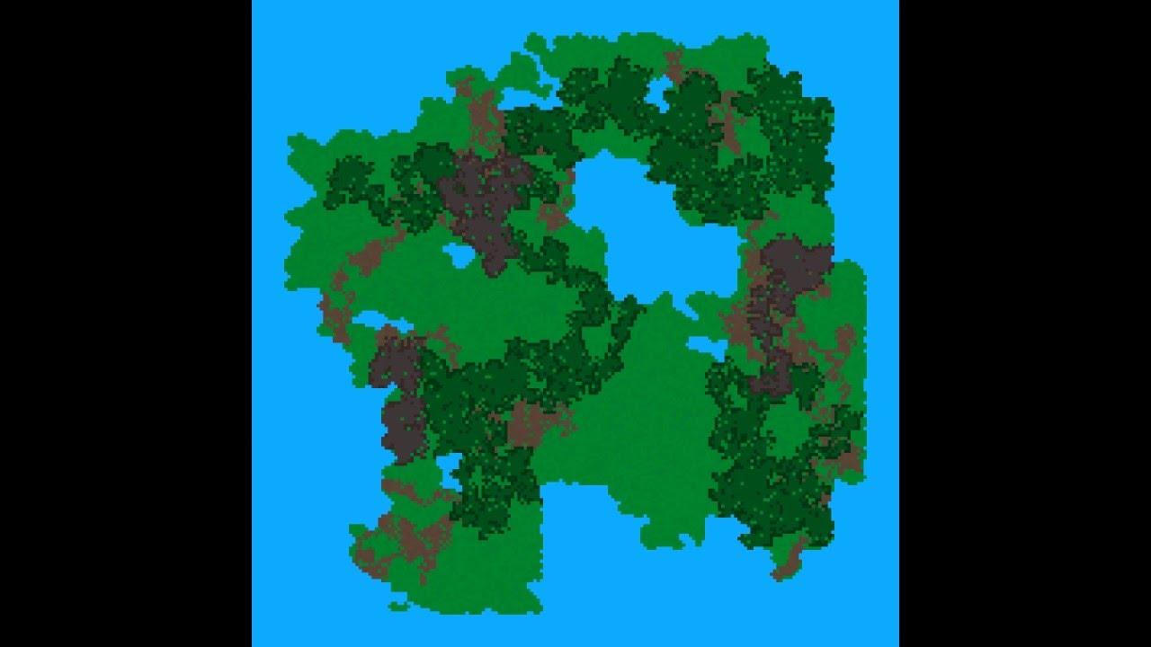 Hybrid Procedural Map Generator - More Optimized