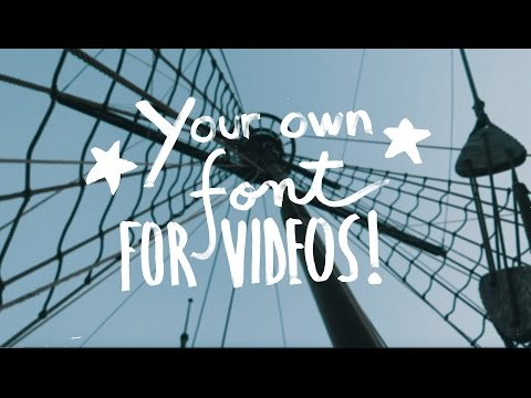 Tutorial: Creating + Animating Your Own Font For Videos!