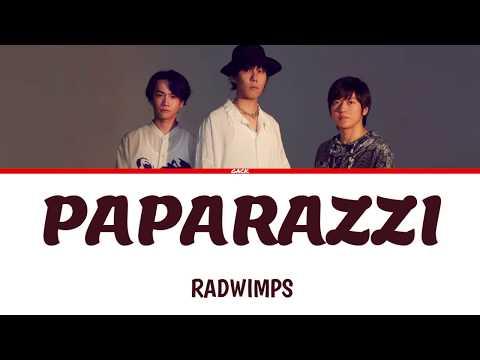 RADWIMPS - PAPARAZZI (Color Coded Lyrics Kan/Rom/Eng/Esp)