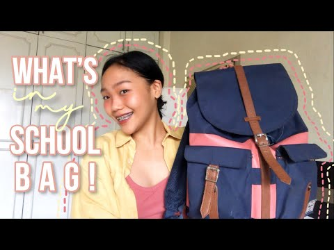 WHAT'S IN MY SCHOOL BAG 2018 !! (Philippines)