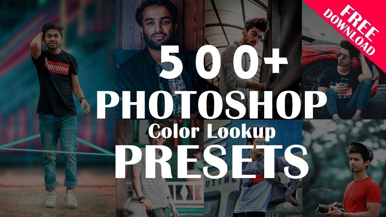 500+ Color Lookup (3D lut) Presets for Photoshop - Tutorial