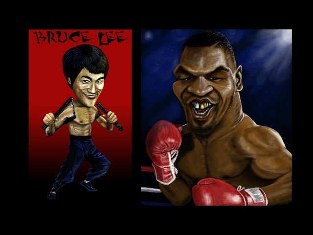 T Shirt Designs # 7 Bruce Lee & Tyson Caricatures