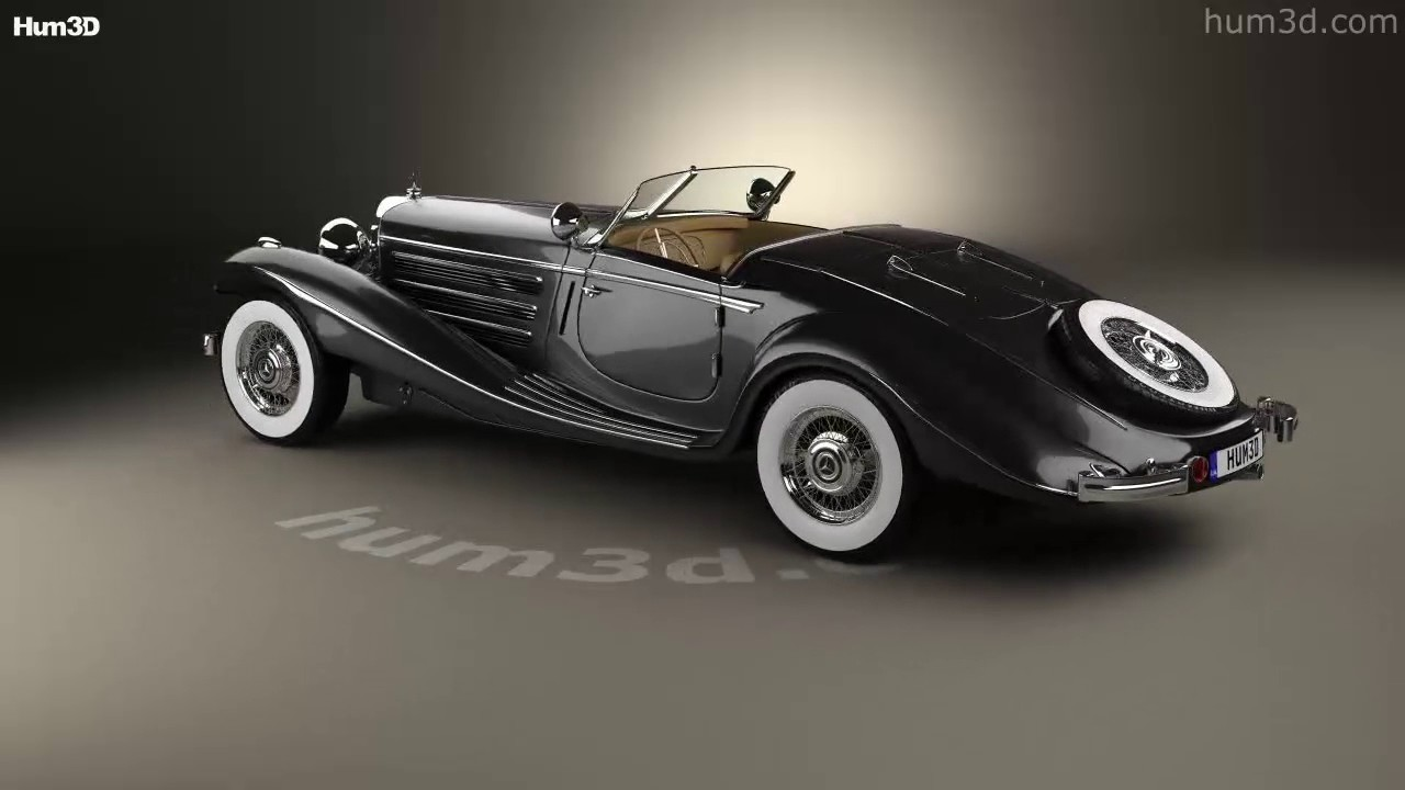 Mercedes Benz 540k Special Roadster 1936 3d Model By Hum3d Com