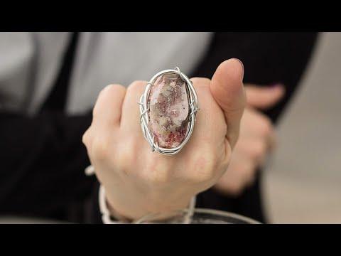 Коллекция колец из натуральных красивых камней. Обзор на руках