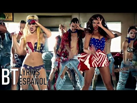 Lady Gaga - Telephone ft. Beyoncé (Lyrics + Español) Video Official