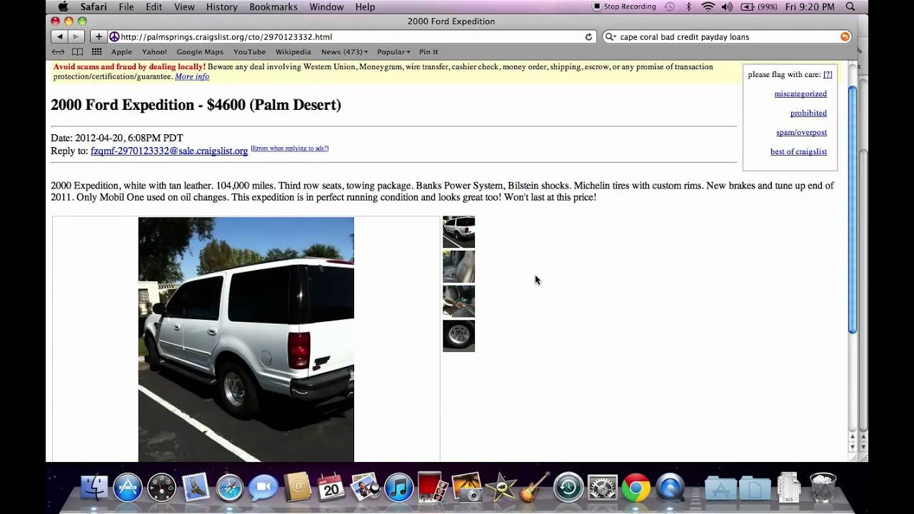 Craigslist indio california