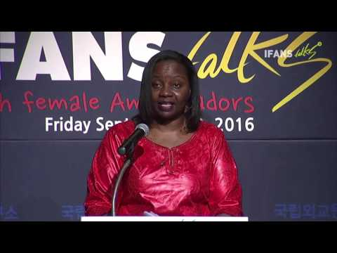 The 13th IFANS Talks with female Ambassadors(23 Sep. 2016, Emma-Françoise Isumbingabo)
