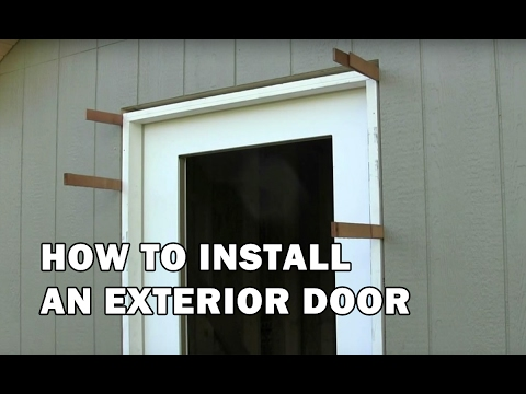 How To Build A Shed   How To Install A Door   Video 14 Of 15