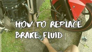 BRZDY - Vyčištění, Vypuštění, Odvzdušnění [Kawasaki Z750] - How to replace brake fluid
