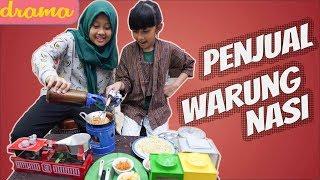 Drama Parodi Penjual Warung Nasi - Azka Mecca Pretend To Play Cooking Dishes