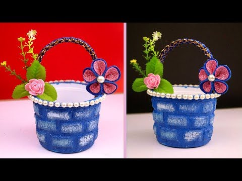 New Year's Gift Basket Ideas Out of Waste Material || Best Out of Waste Craft at Home