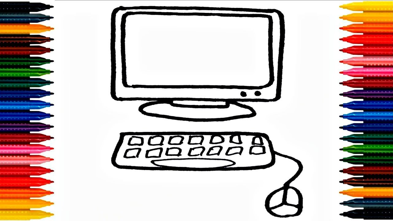 Computer Coloring Pages How To Paint Computer Drawing