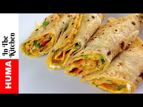 Chapati Egg Rolls Recipe Kids Lunch Box Recipes  by (HUMA IN THE KITCHEN)