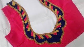 latest latest blouse back neck design